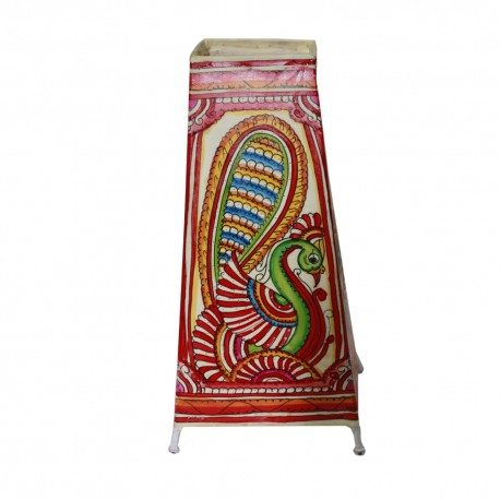 Ethnic Peacock Painted Leather Puppetry Table Lamp