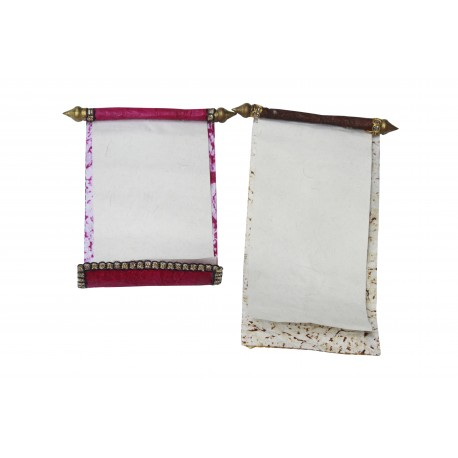 Set of Two Handmade Traditional Scroll Message Scroll