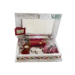 Traditional Meenakari Rakhi Gift Box With Scroll