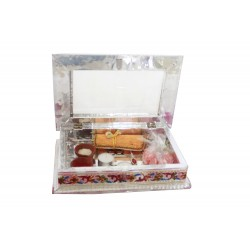 Traditional Meenakari Rakhi Gift Box With Scroll