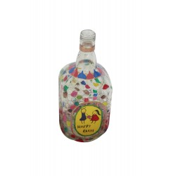 Brother Sister Rakhi Message Painted Glass Bottle