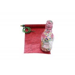Scroll and Painted Glass Bottle Rakhi Gift