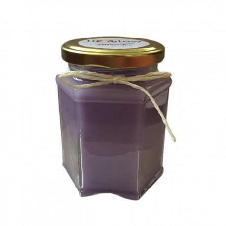 Hexa Jar Scented Lavender Fragrance Handmade Candle