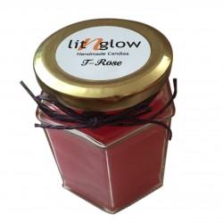 Hexa Jar Scented T Rose  Fragrance Handmade Candle