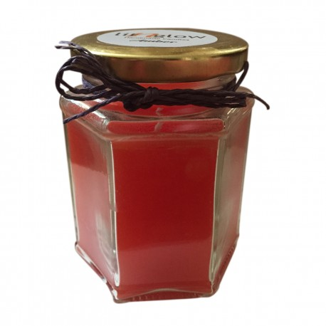 Hexa Jar Scented  Amber Fragrance Handmade Candle