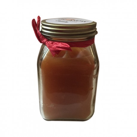 Square Jar Scented Vanilla Frangrance Candle