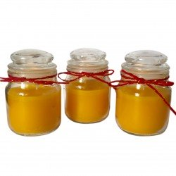 Small Round Jar Scented Sandlewood Candles Pack of Three