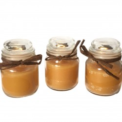 Small Round Jar Scented Vanilla Candles Pack of Three