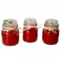 Small Round Jar Scented Amber Candles Pack of Three