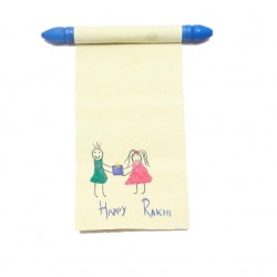 Set of Two Handmade Rakhi Message Happy Rakshabandhan Traditional Message Scroll