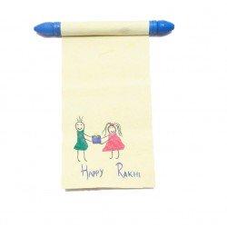 Set of Two Handmade Rakhi Message Happy Rakshabandhan Traditional Message Scroll