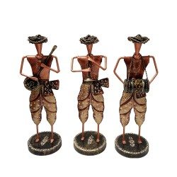 Wrought Iron Standing Musician Set Home Decorative