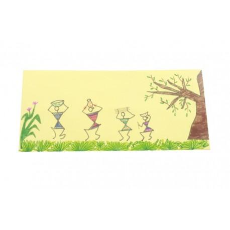 Handmade Paper Scroll With Warli Art