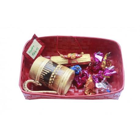 Bamboo Beer Mug Rakhi Gift Basket