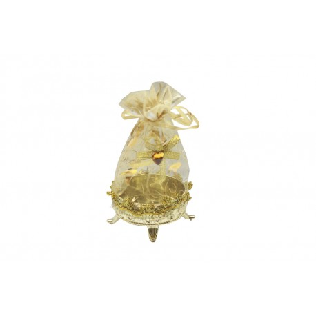 Gold Pouch With 10 Grams Silver Coin Gold Polished Queen Victoria Coin Diwali Gift
