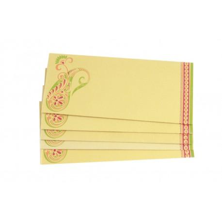 Tradtional Ethnic Design Paper Money Envelope Set of 5
