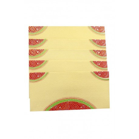 Traditional Rajasthani Bandini Design Money Envelope Gift Cover Set of Five
