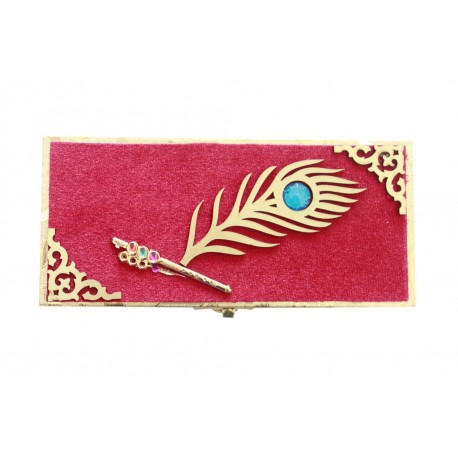 Elegant Peacock Feather Design Money Box, Gift Box