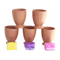 Terracotta Clay Thandai Glass Lassi Glass Set Of 5 Reusable Glass Bhaang Glass