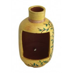 Hand Painted Terracotta Bottle Shape Planter