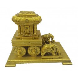 "Replica Of Hampi Chariot Showpiece 11"" x 8""x 6"" Miniature Indian Monument"