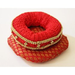Tombuda and methe set/ Head cushion set -Red