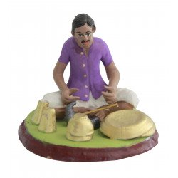 Miniature Terracotta Clay Gold Smith Decorative Doll Figurine Clay Doll Indian Doll