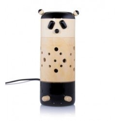 Wooden Handcrafted Panda Shape Night Lamp/ Table Lamp Channapatna Craft