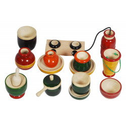 Wooden Channapatna Toy Set My Kitchen Set
