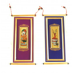 Set Of Two Pattachitra Painting on Palm Leaf Envelope/ Wall Decor
