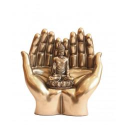 Porcelain Double Palm Buddha Showpiece