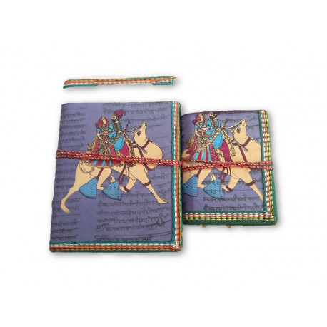 Handmade Hand Painted Eco Friendly Paper Diary Pack of Two