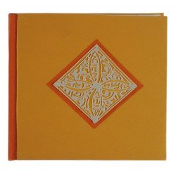 Handmade Paper Diary Eco Friendly 100 % Cotton Orange Diary Notebook