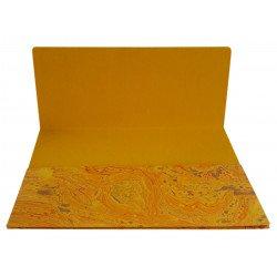 Handmade Paper Marble Technique Design Paper File Folder/ File Jacket Set of Two