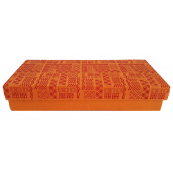 Decorative Orange Handmade Paper Rectangular Jewellery Box/ Storage Box/ Gift Box