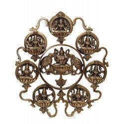 Brass Ashta Lakshmi Wall Hanging Wall Panel