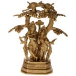 Brass Radha Krishna Under Tree Idol
