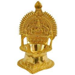 Brass Kamakshi Kamatchi Devi Maa Oil Lamp Diya Deepam