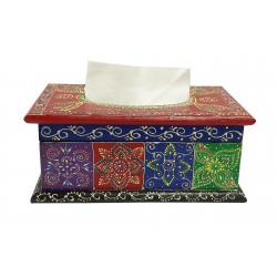 Handcrafted Wooden Multi Colour Tissue Box Holder Decorative Tissue Box