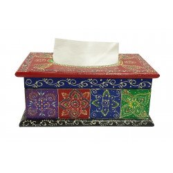 Handcrafted Wooden Multi Colour Tissue Box Holder Decorative Tissue Box