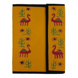 Colourful Handmade Cotton Embroideried File Folder/ Document Folder