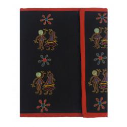 Colourful Handmade Cotton Embroideried File Folder/ Document Folder