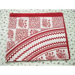 Ethnic Bagru Block Print Elephant Print Cotton Bedsheet