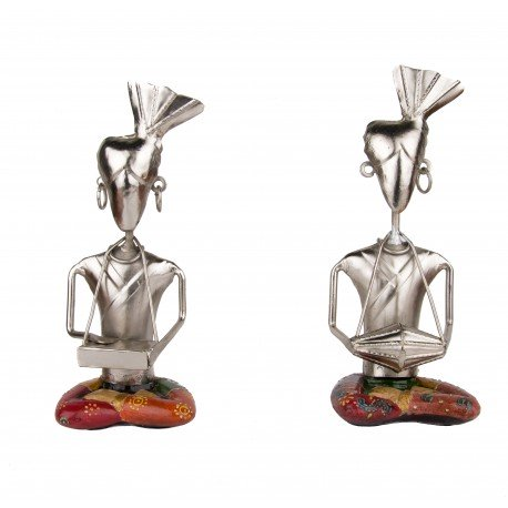Two Piece Musical Doll Showpiece