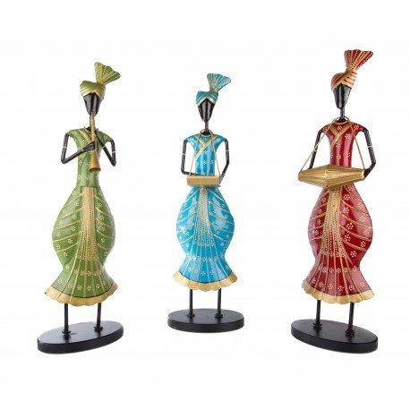 Painted Three Piece Punjabi Musical Figurine