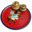 Rajasthani Art Wooden Handpainted Serving Tray/ Wooden Serveware