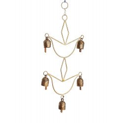 Decorative Copper Anqiue Rustic Finish Wind Chime/ Copper Bells With Wind Chime