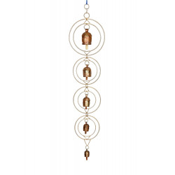 Handcrafted Decorative Copper Bells Wind Chime/ Copper Wind Chime/ Rustic Finish Wind Chime For Balcony