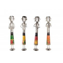 Set of Four Standing Musician Showpiece