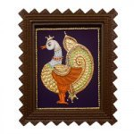 Traditional Tanjore Painting Peacock Painting